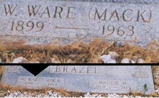 Mack Brazel's Head Stone