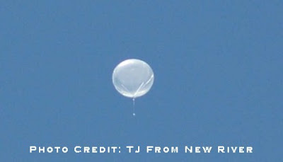 Weather balloon northern Arizona