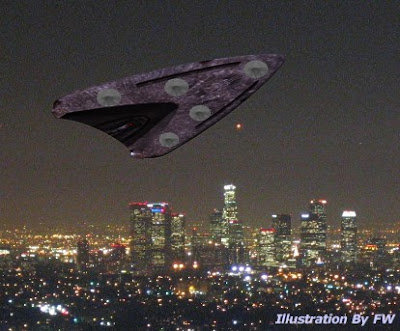 Triangular Shaped UFO Over Los Angeles