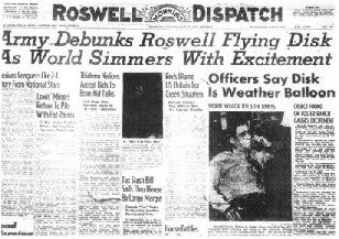 Army Debunks Roswell Flying Disk (Sml) - Roswell Dispatch 7-9-1947