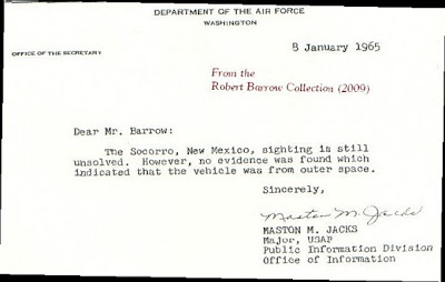 Robert Barrow Letter to Air Force  1-8-1965