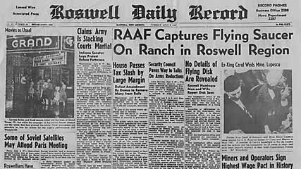 RAAF Captures Flying Saucer On Ranch in Roswell Region