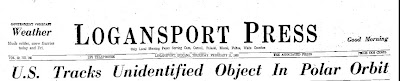 US Track Unidentified Object in Polar Orbit (Heading) - Logansport Press 2-11-1960