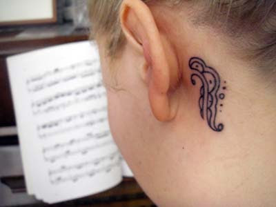 And then the ear tattoo I LUV it too