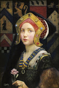 Head of a Tudor Girl. (click to enlarge). Eleanor Fortescue Brickdale (head of tudor girl huge)