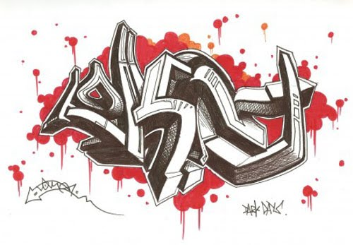 3d graffiti sketches. Quick 3D Graffiti Sketch