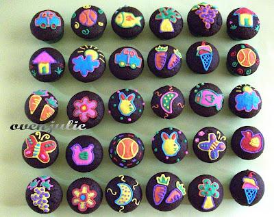 Tantangan baru.., dapet pesanan 30 mini cupcake yang minta di hias ma ...