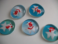 Goldfish Marble Magnets