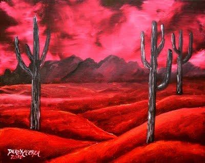 Saguaro cactus abstract desert