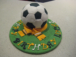 How to make a soccer ball cake tutorial The Claytons Blog