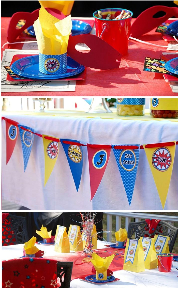 Boys Party Ideas: A SUPERHERO Birthday Party