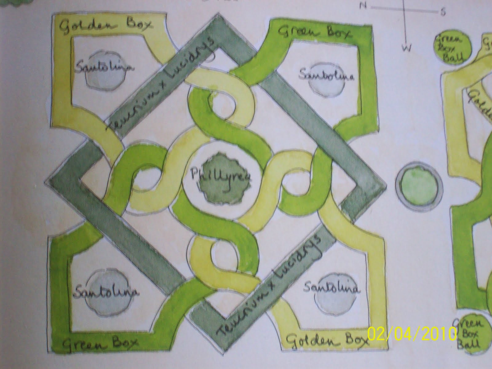 Garden designs for box parterres, knot gardens, hedges and topiary