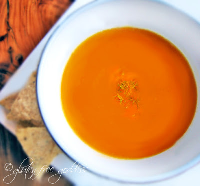 Dairy free pumpkin and sweet potato soup