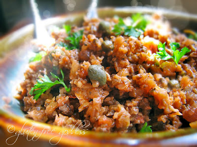 Easy roasted eggplant tapenade- vegan and gluten-free