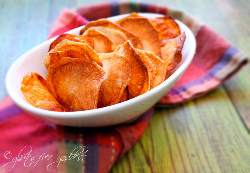 Crunchy White and Sweet Potato Chips Recipe