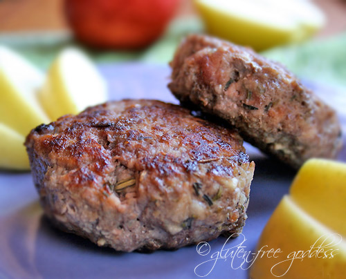 Gluten free breakfast sausage recipe with apples