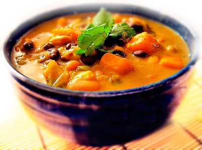 Recipe for African Sweet Potato Soup with Peanut Butter