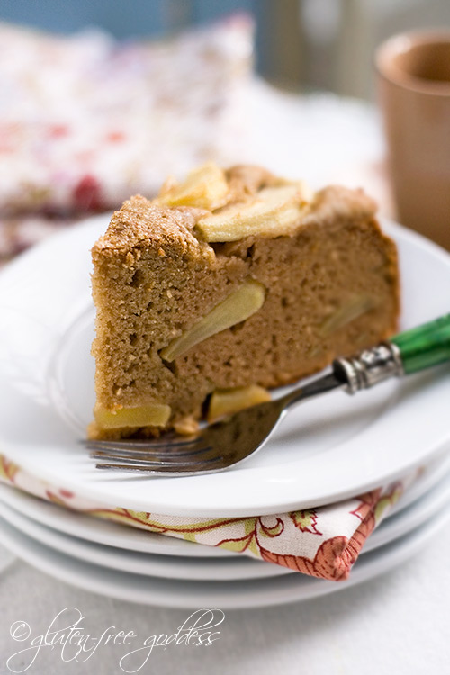 Gluten free apple cake recipe made with coconut flour