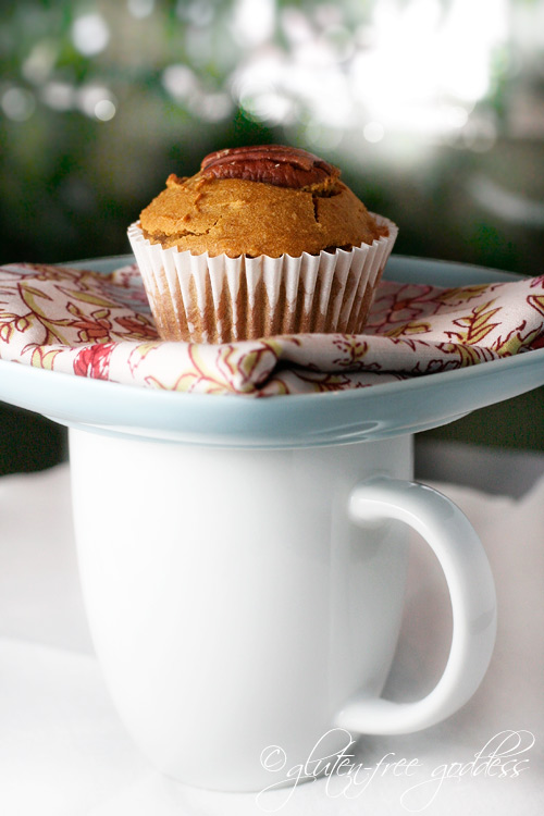 Delicious pumpkin muffins baked with gluten free flours