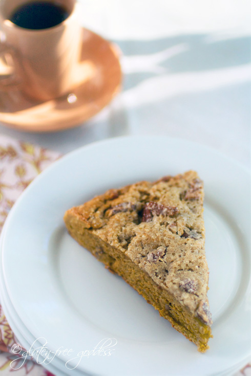 Gluten free butternut pecan scones