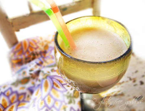 Creamy banana apricot smoothie recipe that is dairy free and vegan