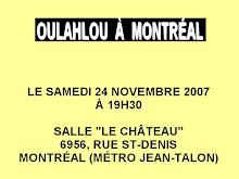 OULAHLOU À MONTRÉAL