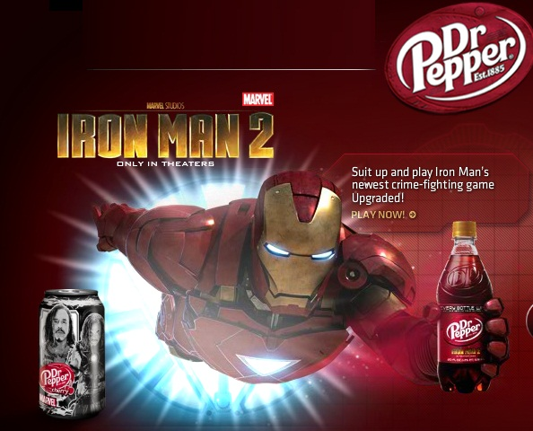 Promotional Buzz - Iron Man 2 Brand Promotion Dr. Pepper