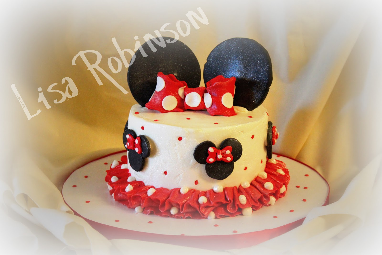 Scents from the Kitchen Minnie Mouse 1st birthday cake