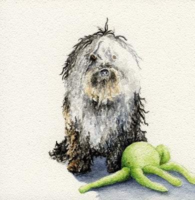 watercolour pet portrait painting