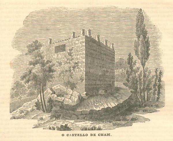 Desenho da Torre de Chã, ou Cham
