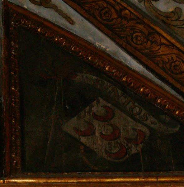 Armas dos Pinto no tecto da sala dos brasões no Palacio de Sintra