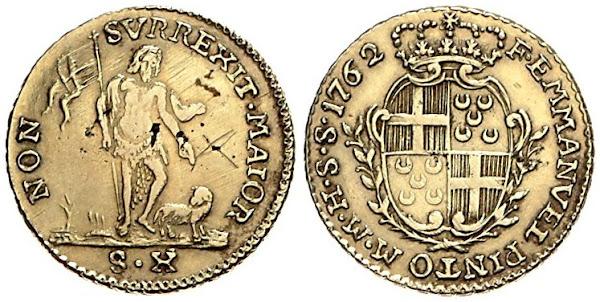 moeda cunhada por D.Manuel Pinto da Fonseca