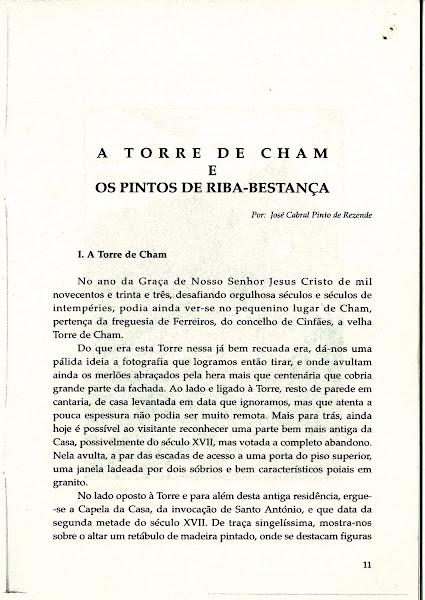 """artigo """"A Torre de Cham e os Pintos de Riba-Bestança"""""""