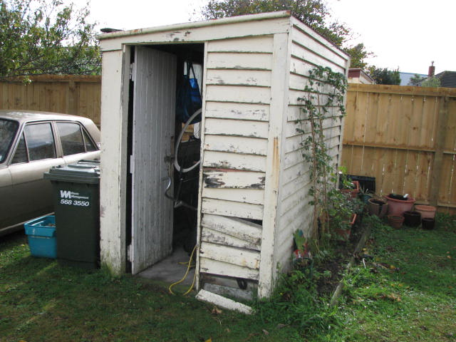 Our Poor Wee Falling Down Shed Is Now A Very Sturdy, Freshly Painted U0026  Purdy Garden Shed!