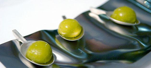 Fotos de platillos de la cocina molecular