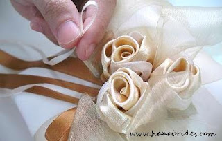 Tie wedding rings to pillow