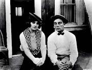 Buster Keaton con una actriz