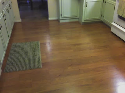 brand new laminate floor in cherry finish