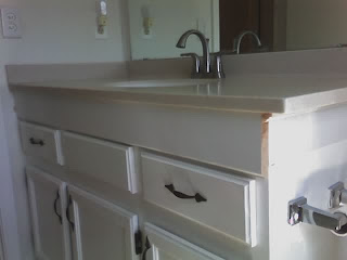 white vanity grows 4 inches taller!
