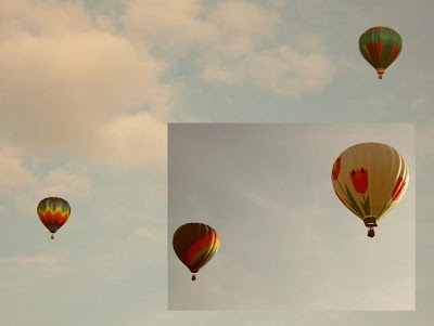 two pairs of balloonists over Dansville