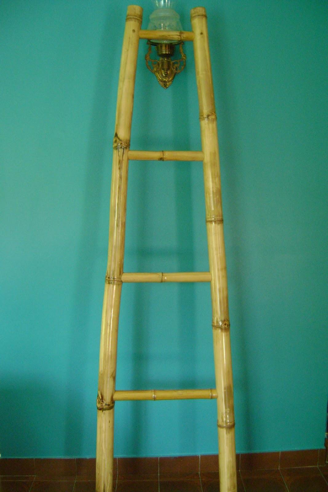 Los maderos escalera de bambu - Escalera de bambu ...
