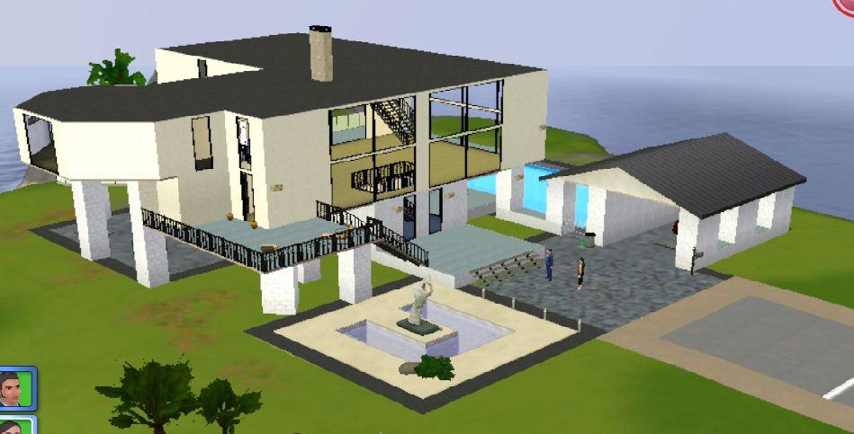 Casas modernas sims 3 imagui for Casas modernas sims 4 paso a paso