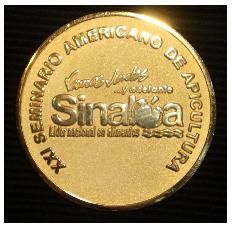 Medalla conmemorativa del XXI Seminario Americano de Apicultura
