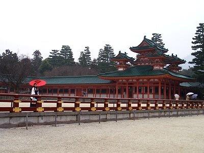 Der Heian-Tempel in Kyoto