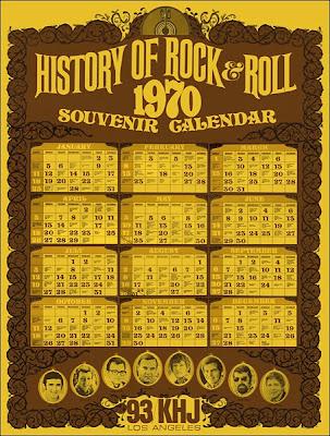 KHJ Calendar Poster - 1970
