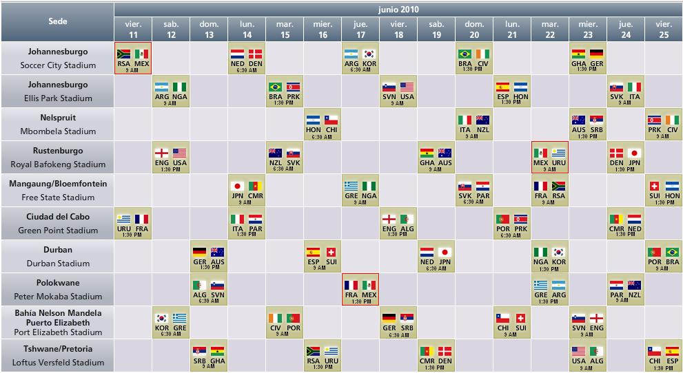 horario africa: