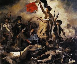 """PINTURAS DE AYER... Hoy: """"La Libertad  guiando al Pueblo"""" de E. DELACROIX"""
