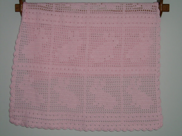Crochet Filet Bunny Afghan