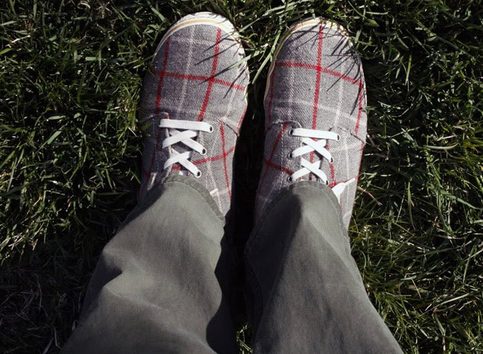 Simple tweed sneakers