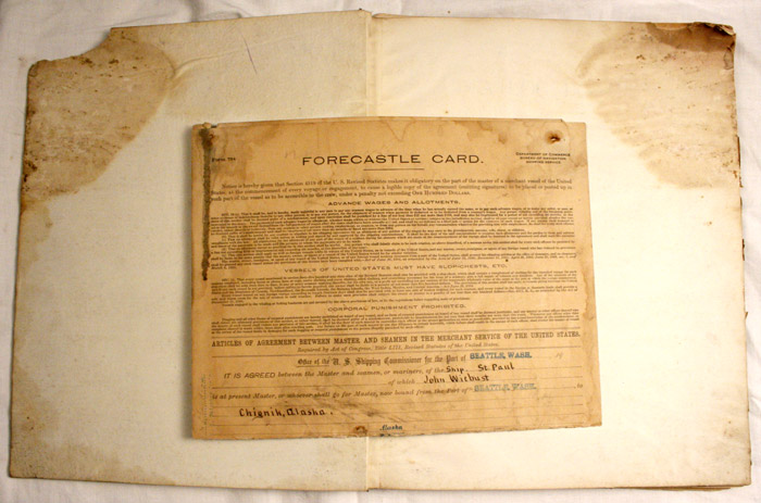 log book forecastle card